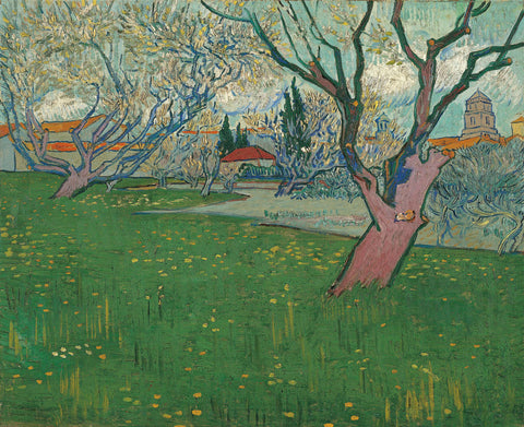 Vincent van Gogh - Orchards in Blossom, view of Arles, 1889
