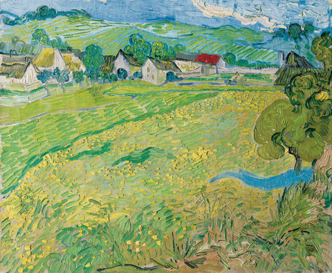 """Les Vessenots"" in Auver, 1890 -  Vincent van Gogh - McGaw Graphics"