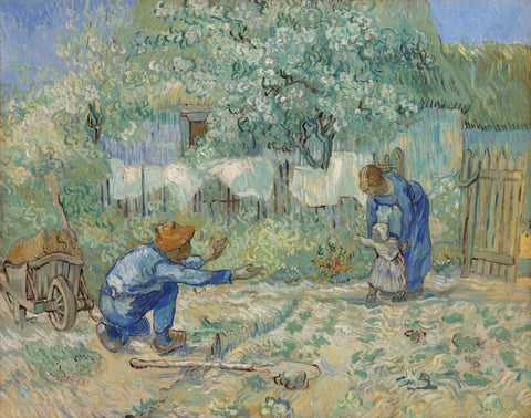 First Steps - After Millet, 1890 -  Vincent van Gogh - McGaw Graphics