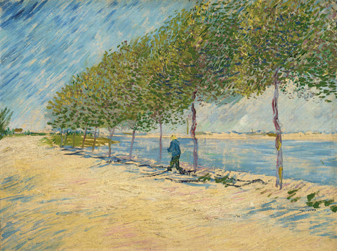 Vincent van Gogh - Road Along the Seine near Asnieres, 1887