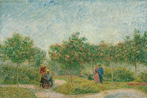 Garden with Courting Couples: Square Saint-Pierre, 1887 -  Vincent van Gogh - McGaw Graphics