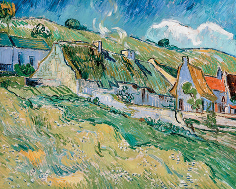 Vincent van Gogh - Cottages, 1890