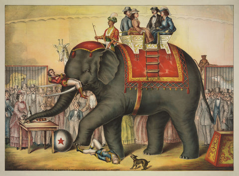 Vintage Reproduction - Performing Elephant