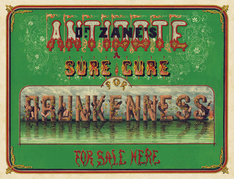 Vintage Reproduction - Dr. Zane's Antidote, c. 1864