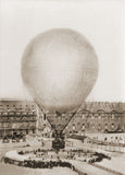 Vintage Photography - Mr. Henry Giffard's Balloon at the Tuilleries, 1878