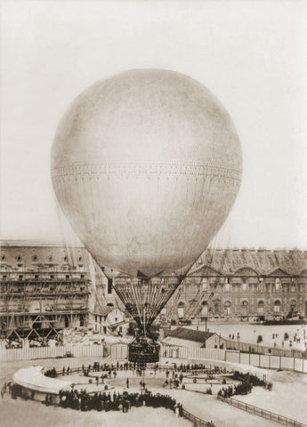 Mr. Henry Giffard's Balloon at the Tuilleries, 1878 -  Vintage Photography - McGaw Graphics