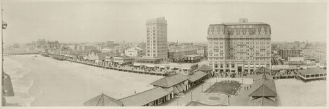 Atlantic City, NJ skyline from Garden Pier, 1917 -  Vintage Photography - McGaw Graphics