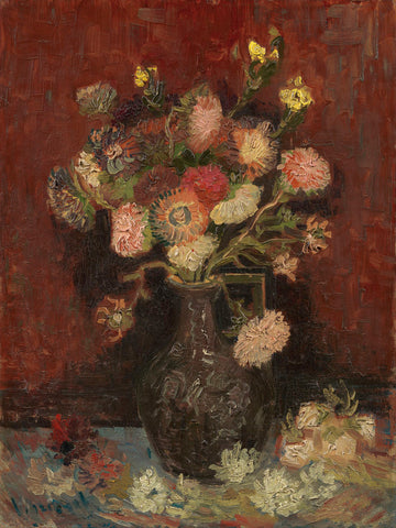 Vase with Chinese Asters and Gladioli, 1886 -  Vincent van Gogh - McGaw Graphics