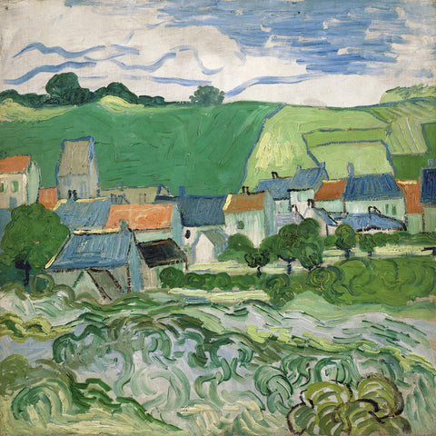 View of Auvers, 1890 -  Vincent van Gogh - McGaw Graphics