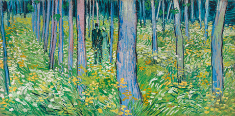 Undergrowth with Two Figures, 1890 -  Vincent van Gogh - McGaw Graphics