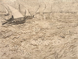 Boats at Saintes-Maries, 1888 -  Vincent van Gogh - McGaw Graphics