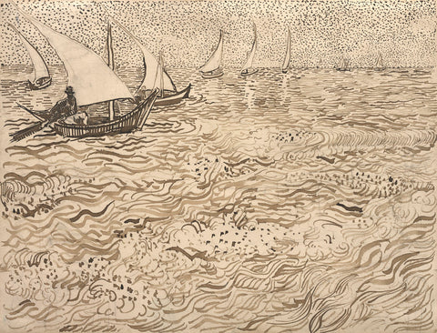 Vincent van Gogh - Boats at Saintes-Maries, 1888