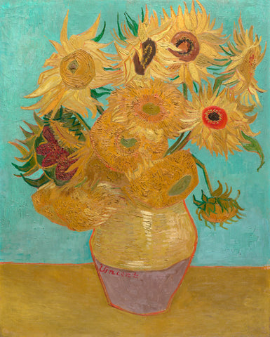 Vase with Twelve Sunflowers, 1889 -  Vincent van Gogh - McGaw Graphics