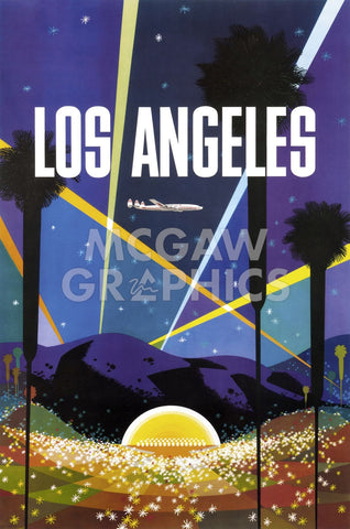 Los Angeles -  Vintage Poster - McGaw Graphics