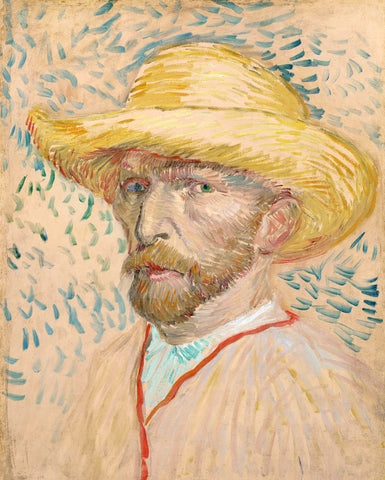 Self-portrait with Straw Hat, 1887 -  Vincent van Gogh - McGaw Graphics