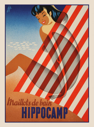 Maillots de bain Hippocamp -  Vintage Posters - McGaw Graphics