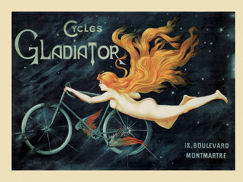 Vintage Posters - Cycles Gladiator