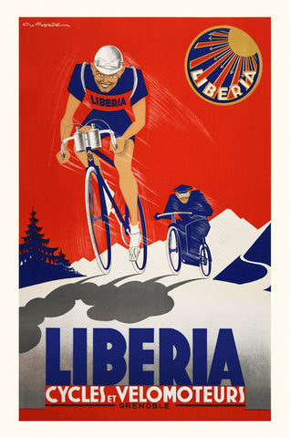 Liberia Cycles et Velomoteurs -  Vintage Posters - McGaw Graphics