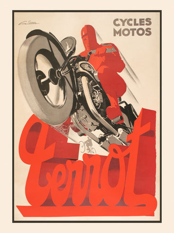 Vintage Posters - Terrot Cycles Motos