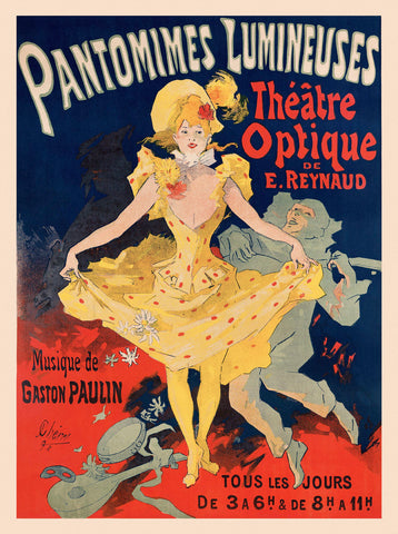 Pantomimes Lumineuses -  Vintage Posters - McGaw Graphics