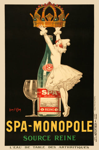 Spa-Monopole Source Reine -  Vintage Posters - McGaw Graphics