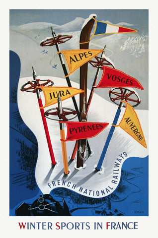 Vintage Posters - Winter Sports in France
