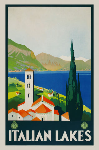 Italian Lakes -  Vintage Posters - McGaw Graphics