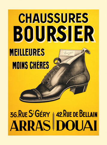 Chaussures Boursier -  Vintage Posters - McGaw Graphics