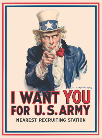 Uncle Sam: I Want You for U.S. Army -  Vintage Reproduction - McGaw Graphics