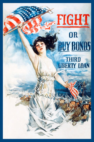 Fight or Buy Bonds -  Vintage Reproduction - McGaw Graphics