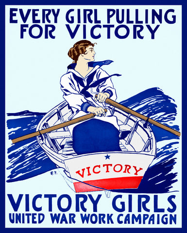 Vintage Reproduction - Every Girl Pulling for Victory