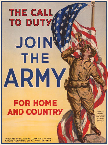 The Call to Duty, Join the Army -  Vintage Reproduction - McGaw Graphics