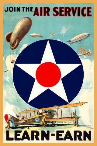 Join the Air Service -  Vintage Reproduction - McGaw Graphics