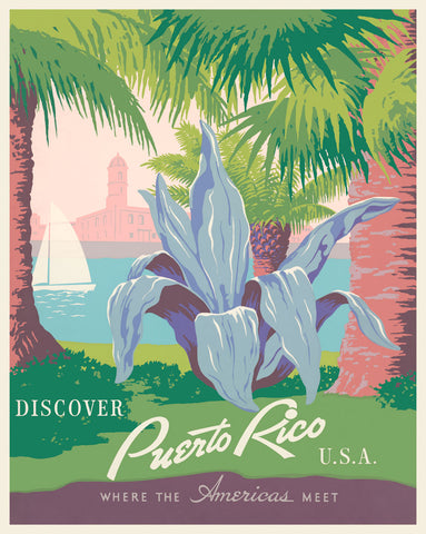Discover Puerto Rico, USA -  Vintage Reproduction - McGaw Graphics