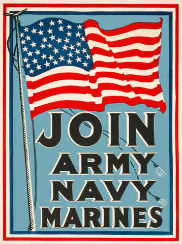 Vintage Reproduction - Join Army, Navy, Marines