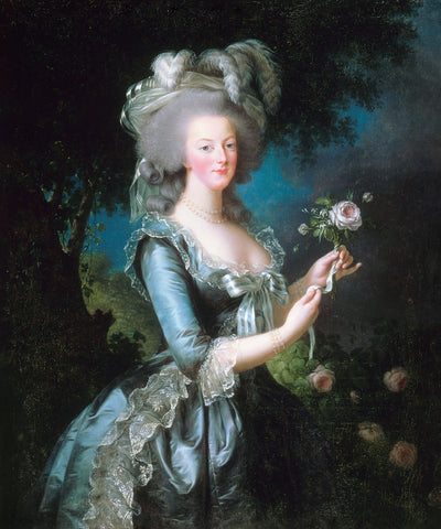 Elisabeth-Louise Vigee Le Brun - Marie-Antoinette with the Rose, 1783