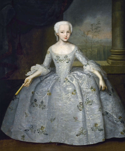 Portrait of Sarah Eleanore Fairmore, 1749 -  Ivan Vishnyakov - McGaw Graphics