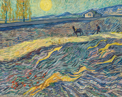 Field with Plowing Farmers, 1889 -  Vincent van Gogh - McGaw Graphics
