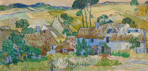 Farm near Auvers, 1890 -  Vincent van Gogh - McGaw Graphics