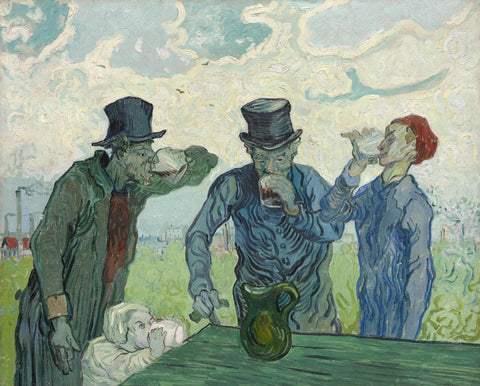 The Drinkers, 1890 -  Vincent van Gogh - McGaw Graphics