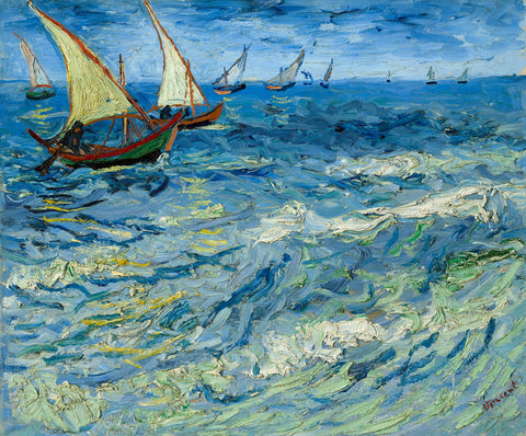Seascape at Saintes-Maries, 1888 -  Vincent van Gogh - McGaw Graphics