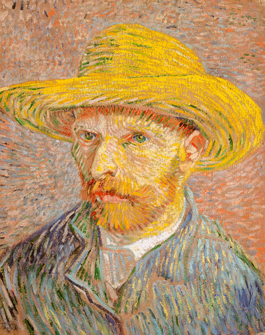 Self-Portrait with a Straw Hat (obverse: The Potato Peeler), 1887