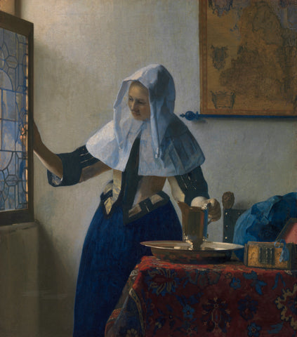 Young Woman with a Water Pitcher, ca. 1662 -  Johannes Vermeer - McGaw Graphics