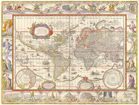 Blaeu - World Map -  Vintage Map - McGaw Graphics