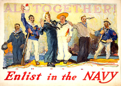 Enlist in the Navy -  Vintage Sophie - McGaw Graphics