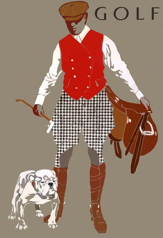 Bulldog Golf -  Vintage Sophie - McGaw Graphics