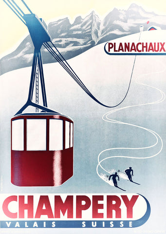 Champery - Ski -  Vintage Sophie - McGaw Graphics