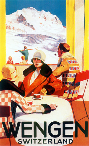 Wengen Switzerland -  Vintage Sophie - McGaw Graphics
