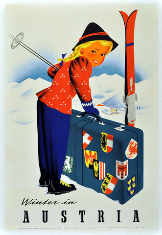 Winter in Austria -  Vintage Sophie - McGaw Graphics