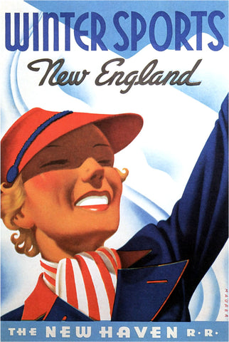 Winter Sports - New England -  Vintage Sophie - McGaw Graphics
